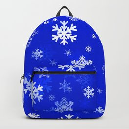 Light Blue Snowflakes Backpack