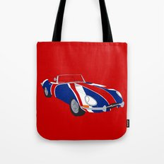 Shaguar (on Red) Tote Bag