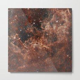 Orange Burst Nebula Metal Print