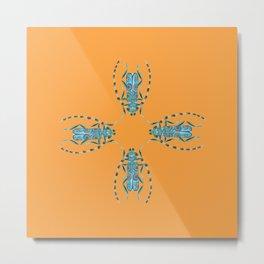 Smooth Criminal - Orange - Multi Metal Print