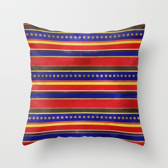 Stripes and Dots Throw Pillow
