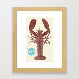 Rock Lobsta Framed Art Print