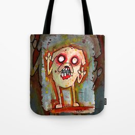 Jake the Zombie dog Tote Bag