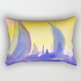Sunset on marina Rectangular Pillow