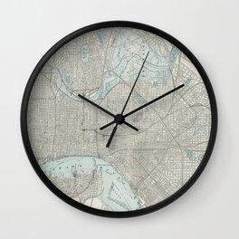 Vintage Map of Philadelphia PA (1901) Wall Clock