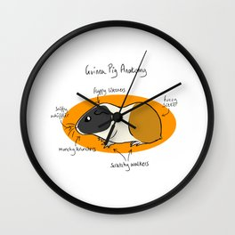 Guinea Pig Anatomy Wall Clock