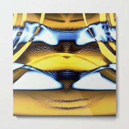 Curtain Yellow Metal Print