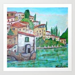 Nesso, Lake Como Art Print