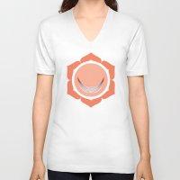 chakra V-neck T-shirts featuring Sacral Chakra by Iron Elefante