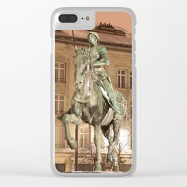 Joan of Arc Frozen in Time Clear iPhone Case