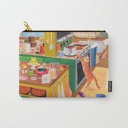 A Cat in the Kitchen Carry-All Pouch