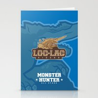 monster hunter Stationery Cards featuring Monster Hunter All Stars - Loc-Lac Riders by Bleached ink