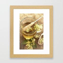 Elder Tea Still life for kitchen Framed Art Print