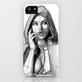 Monica Bellucci - Little Red Riding Hood iPhone Case