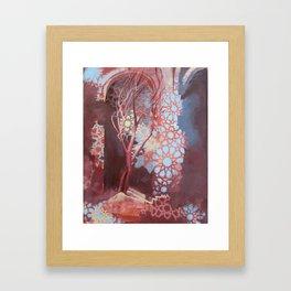 Constellation of Wood Framed Art Print