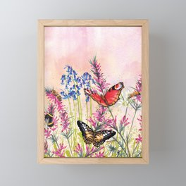 Wild meadow butterflies Framed Mini Art Print