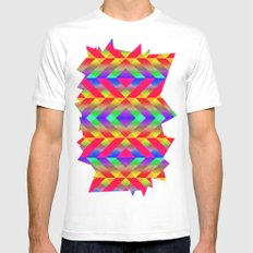 Rainbow MEDIUM Mens Fitted Tee White