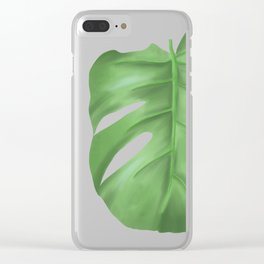 Monstera love Clear iPhone Case
