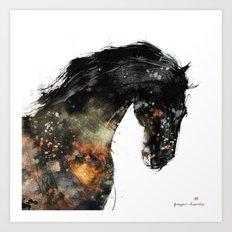 Horse portrait (Distant Galaxy) Art Print