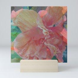 Orange Hibiscus Pique Mini Art Print