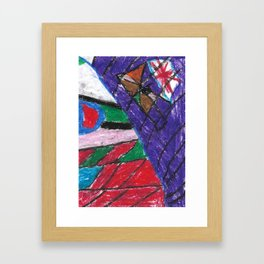 Window Wax Colors Framed Art Print