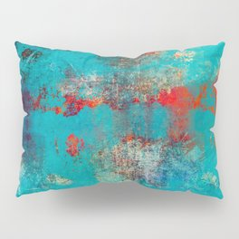 Aztec Turquoise Stone Abstract Texture Design Art Pillow Sham