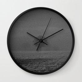 Foggy tree Wall Clock