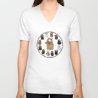 fili V-neck T-shirts featuring Dwarpacas(Fili) by Lady Cibia