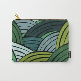 Lines - Green Carry-All Pouch