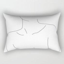 Neckline collar bones drawing - Erin Rectangular Pillow