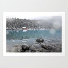 First Snow, Lake Louise Art Print