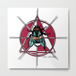 Bombus Pascuorum Metal Print
