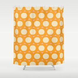 Dots and Triangles Yellow  #midcenturymodern Shower Curtain
