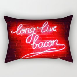 Long Live Bacon Rectangular Pillow