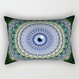 Eye of the I Mandala Rectangular Pillow