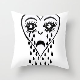 Crying Heart Throw Pillow