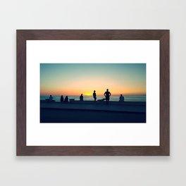 Esplanade Sunset Framed Art Print
