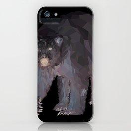 Geometric Polar Bear iPhone Case