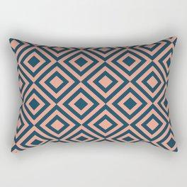 Pink and blue geometric Rectangular Pillow