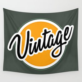 Vintage Badge Wall Tapestry