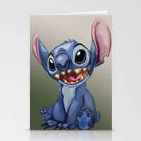 stitch Stationery Cards featuring Stitch by Joshua Norman
