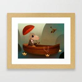 My little Boat Framed Art Print