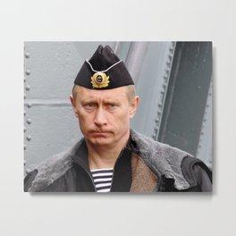 Putin seaman. Metal Print