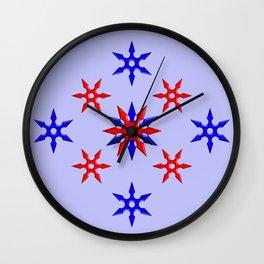 Shuriken Design version 3 Wall Clock