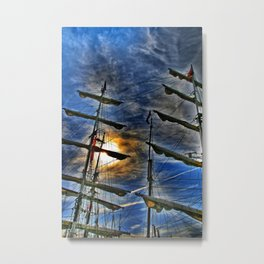And I'm waiting for the wind Metal Print