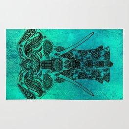 Ornate Patterned Elephant Rug