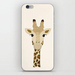 Golden Glitter Giraffe iPhone Skin