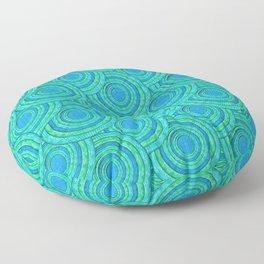 Teal Parasols Pattern Floor Pillow