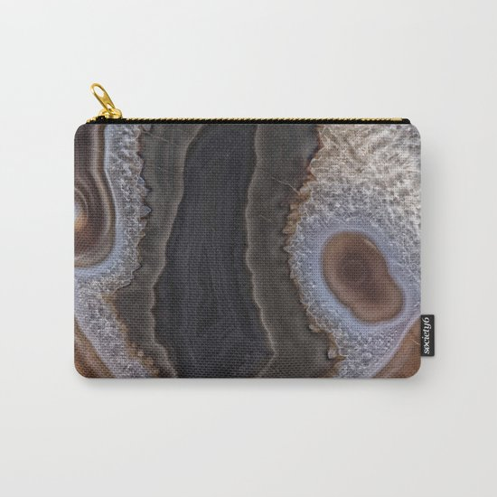Chocolate colored Agate Crystals Carry-All Pouch
