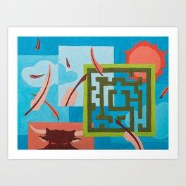 Labyrinth (Day) Art Print